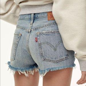 Levi's Urban Renewal 501 Denim Cut off shorts
